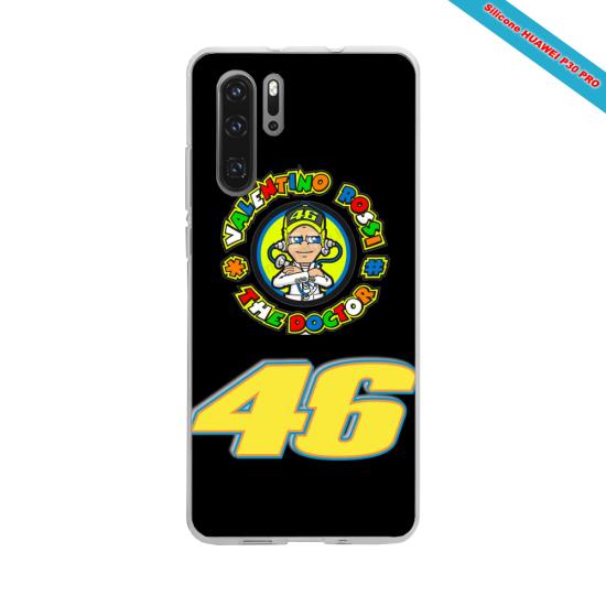 Coque silicone Galaxy J4 2018 Hibiscus bleu