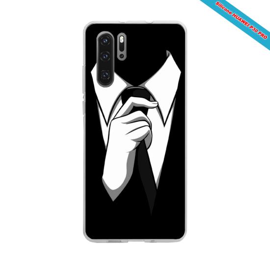 Coque silicone Galaxy J3 2018 Hibiscus bleu
