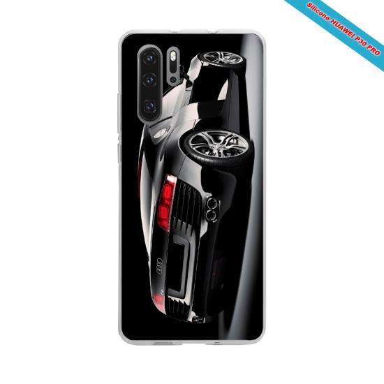 Coque silicone Galaxy J3 2017 Hibiscus bleu