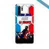 Coque silicone Galaxy A71 Hibiscus bleu