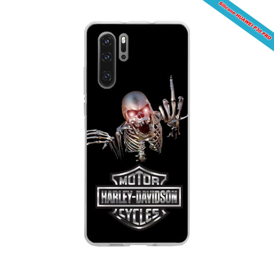 Coque silicone Iphone SE 2020 Hibiscus bleu