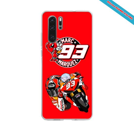 Coque silicone Iphone 11 Pro verre trempé Hibiscus bleu