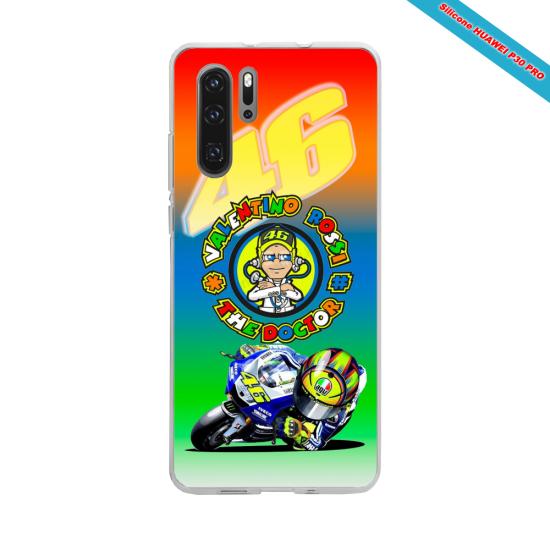 Coque silicone Iphone 11 Pro Hibiscus bleu