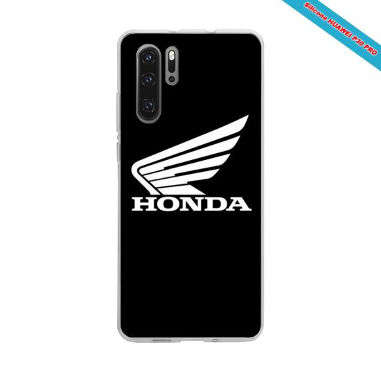 Coque silicone Iphone 11 Hibiscus bleu