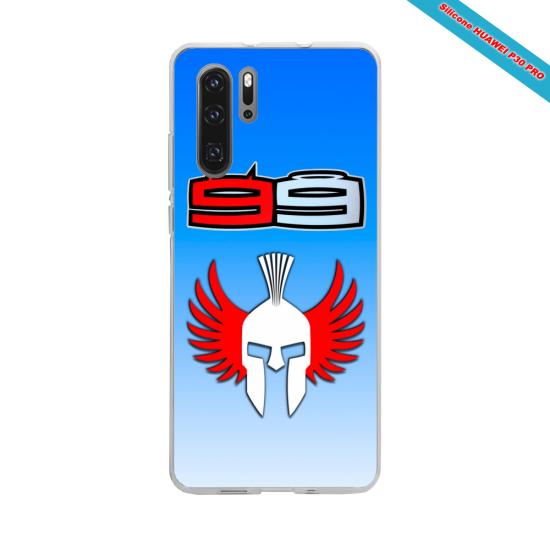 Coque silicone Iphone XS MAX Verre Trempé Hibiscus bleu