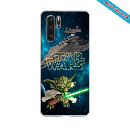 Coque silicone Iphone XS MAX Hibiscus bleu