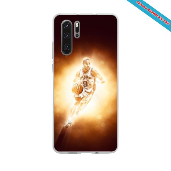 Coque silicone Iphone XR Verre Trempé Hibiscus bleu