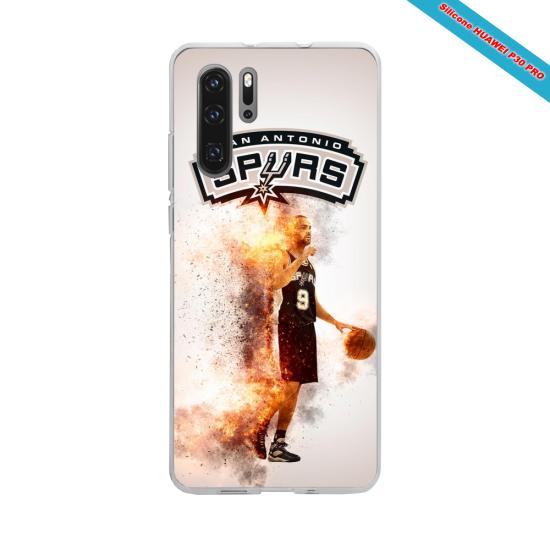Coque silicone Iphone XR Hibiscus bleu