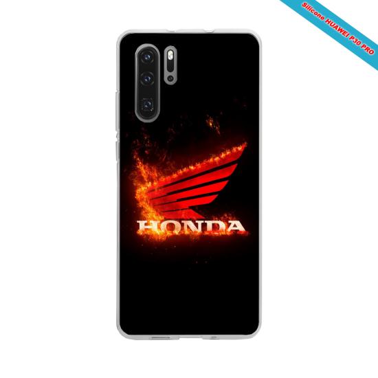 Coque Silicone iphone 7/8 PLUS Hibiscus bleu