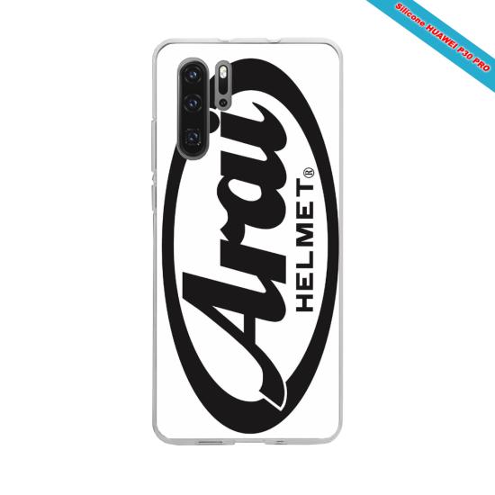 Coque Silicone iphone 7/8 verre trempé Hibiscus bleu