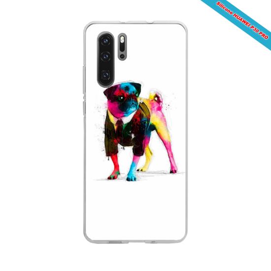 Coque Silicone iphone 5/5S/SE Hibiscus bleu