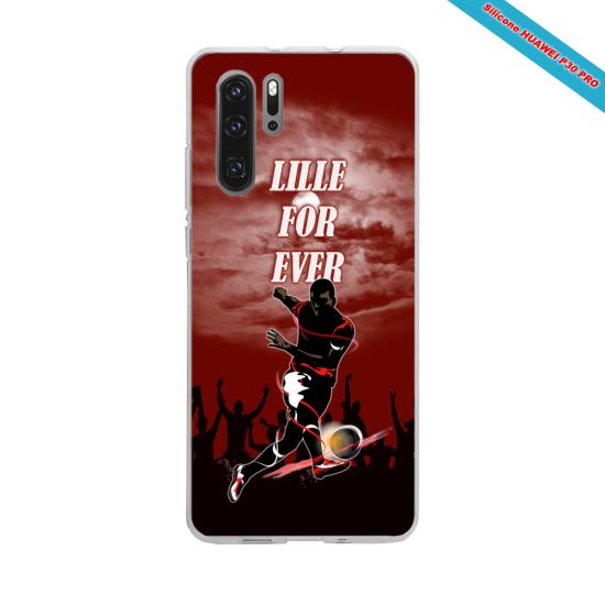 Coque Silicone iphone 5/5S/SE Hibiscus rouge