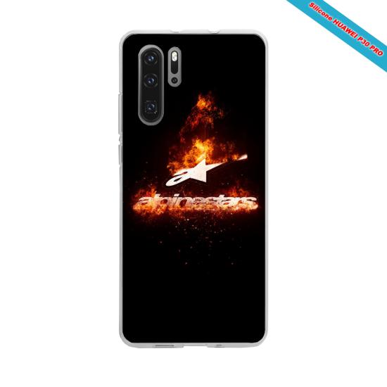 Coque Silicone iphone 7/8 verre trempé Hibiscus rouge
