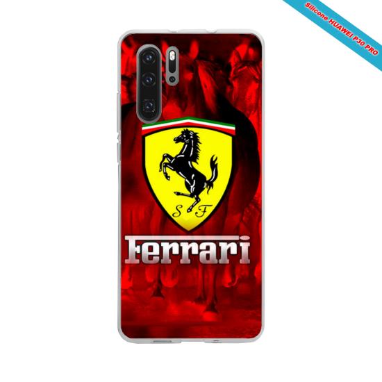Coque Silicone iphone 7/8 PLUS Verre trempé Hibiscus rouge