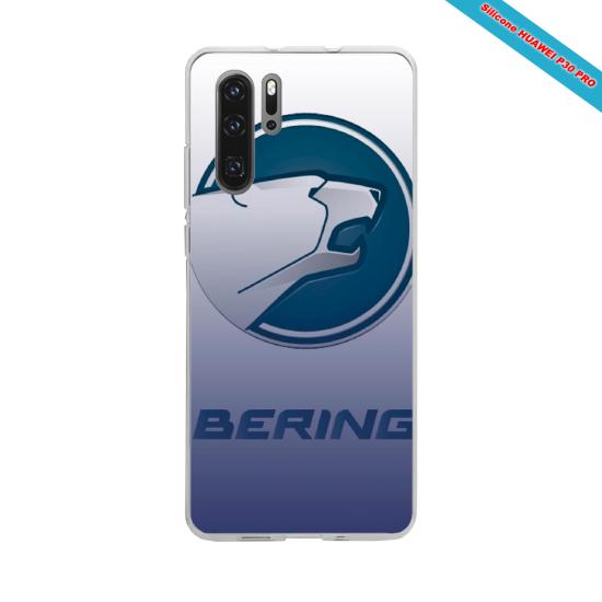 Coque silicone Iphone X/XS verre trempé Hibiscus rouge