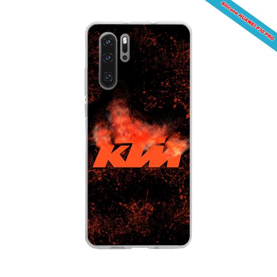 Coque silicone Iphone XR Hibiscus rouge
