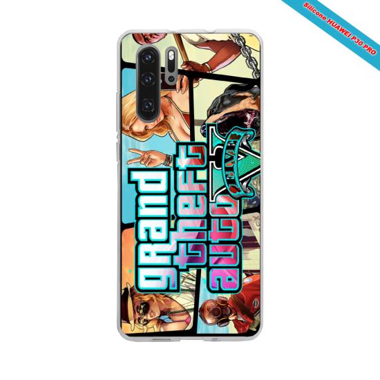 Coque silicone Iphone XR Verre Trempé Hibiscus rouge