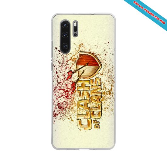 Coque silicone Iphone XS MAX Verre Trempé Hibiscus rouge
