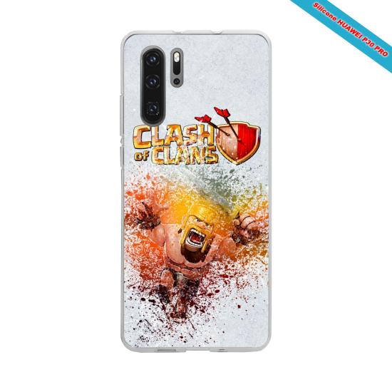Coque silicone Iphone 11 Hibiscus rouge