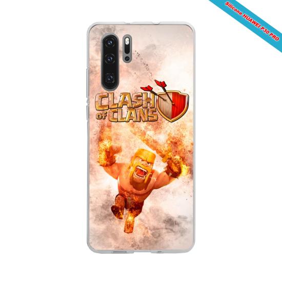 Coque silicone Iphone 11 verre trempé Hibiscus rouge