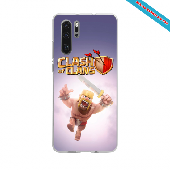 Coque silicone Iphone 11 Pro Hibiscus rouge
