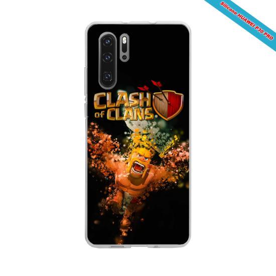 Coque silicone Iphone 11 Pro Max Hibiscus rouge