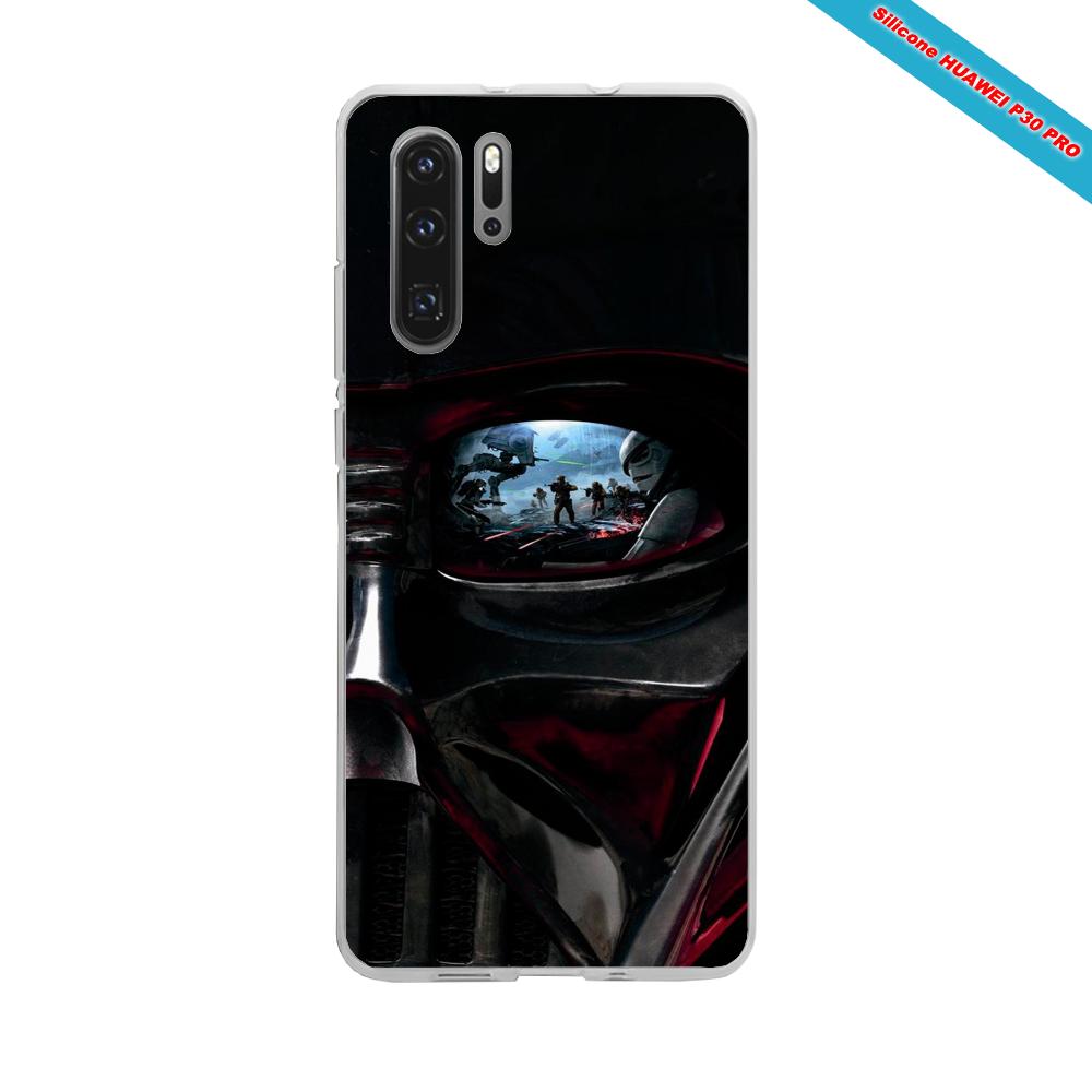 Coque silicone Iphone SE 2020 verre trempé Hibiscus rouge