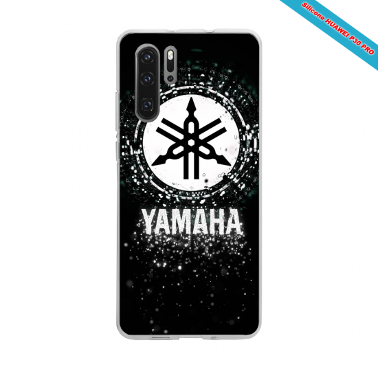 Coque silicone Galaxy A10 Hibiscus rouge