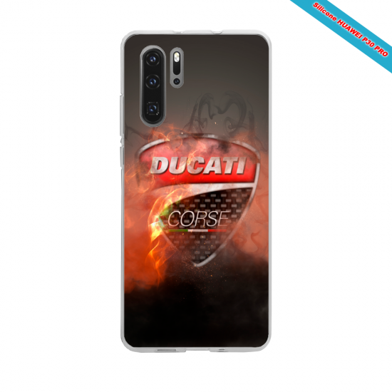 Coque silicone Galaxy A20E Hibiscus rouge