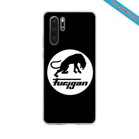 Coque silicone Galaxy A40 Hibiscus rouge