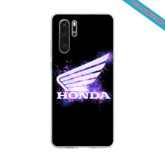 Coque silicone Galaxy A50 Hibiscus rouge
