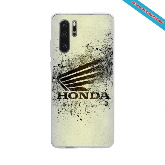 Coque silicone Galaxy A51 Hibiscus rouge