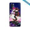 Coque silicone Galaxy A71 Hibiscus rouge