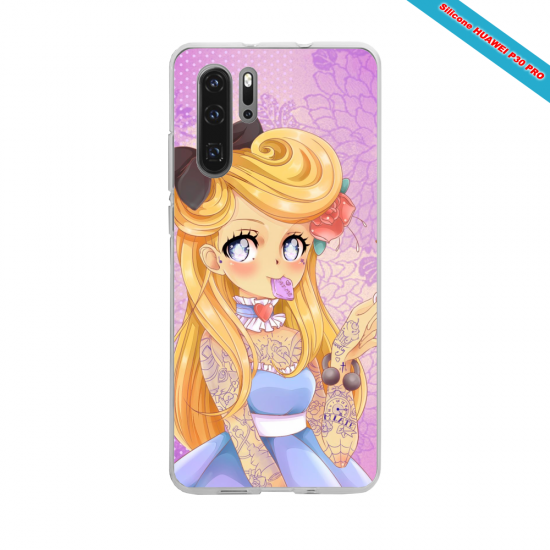 Coque silicone Galaxy J4 CORE Hibiscus rouge