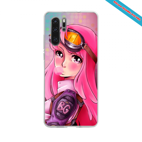 Coque silicone Galaxy J4 PLUS Hibiscus rouge