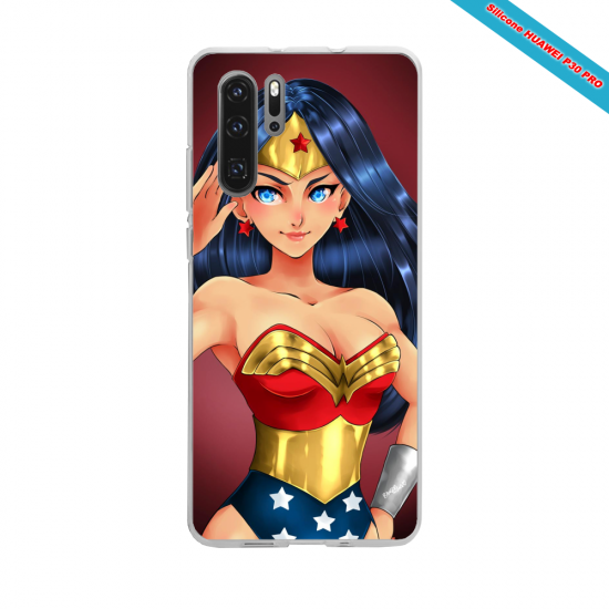 Coque silicone Galaxy J6 Hibiscus rouge