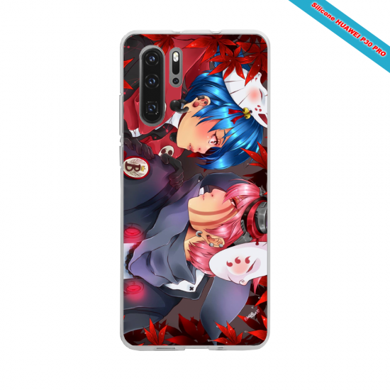 Coque silicone Galaxy J7 2017 Hibiscus rouge
