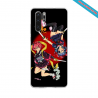 Coque silicone Galaxy J7 2018 Hibiscus rouge