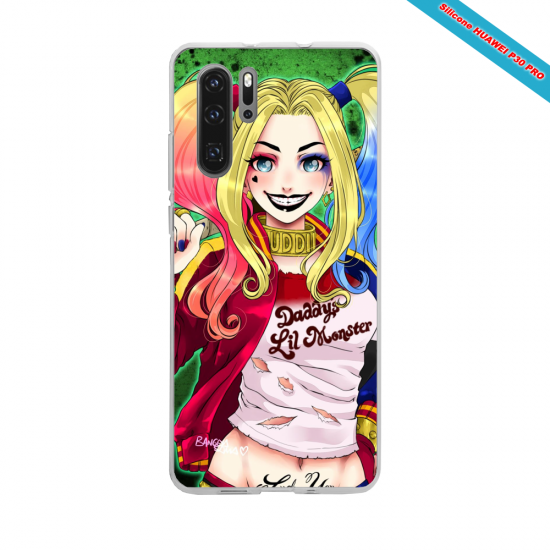 Coque silicone Galaxy J8 Hibiscus rouge