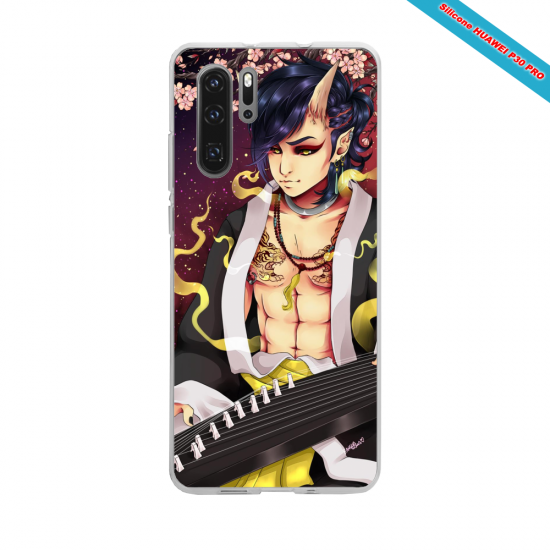Coque Silicone Galaxy S7 Hibiscus rouge