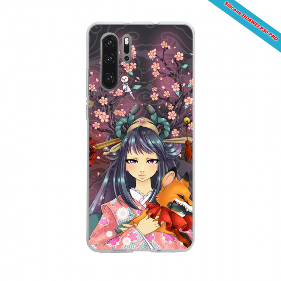 Coque Silicone Galaxy S8 PLUS Hibiscus rouge