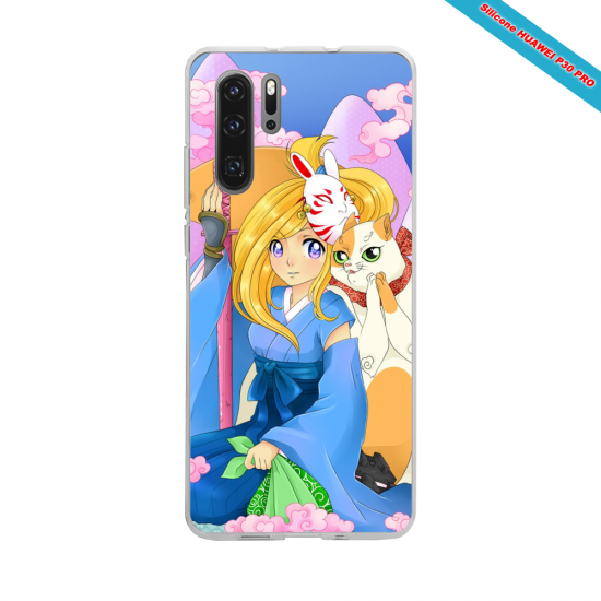 Coque Silicone Galaxy S9 Hibiscus rouge