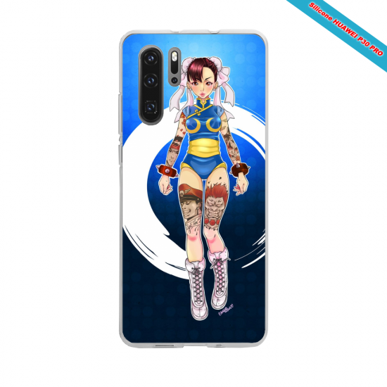 Coque Silicone Galaxy S9 verre trempé Hibiscus rouge