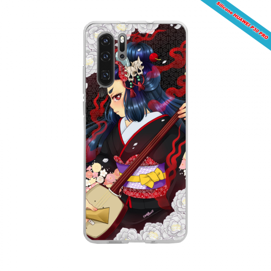 Coque Silicone Galaxy S9 PLUS Hibiscus rouge