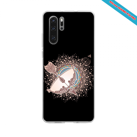 Coque silicone Huawei P8 Hibiscus rouge