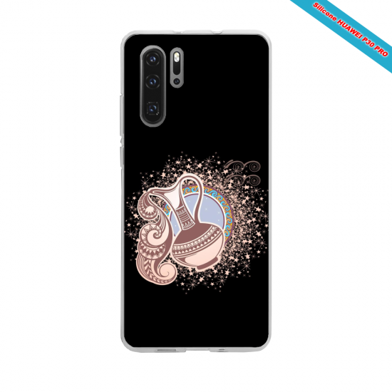 Coque silicone Huawei P8 lite Hibiscus rouge