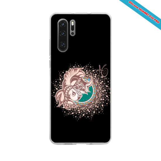 Coque silicone Huawei P9 Hibiscus rouge