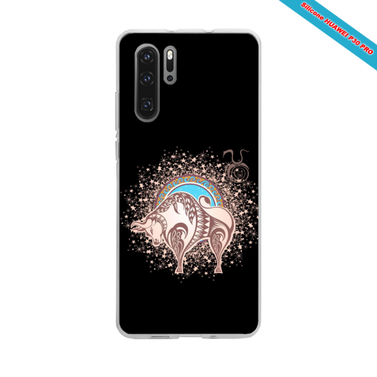 Coque silicone Huawei P10 Hibiscus rouge