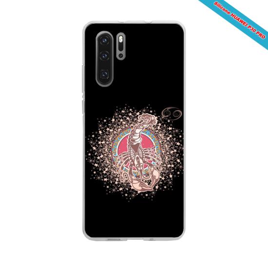 Coque silicone Huawei P10 PLUS Hibiscus rouge