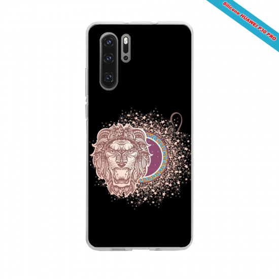 Coque silicone Huawei P20 Hibiscus rouge